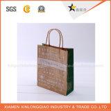 Bolsa de papel respetuosa del medio ambiente de la venta caliente con la maneta del algodón