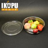 Tazza di plastica di frutta della ciotola di insalata dell'animale domestico di verdure dell'insalata con il coperchio 8oz 12oz 16oz 24oz 32oz