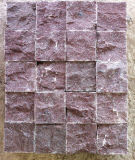 Piedra al aire libre del pórfido rojo partido natural superior de Sudes para pavimentar