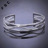 方法宝石類最も新しいデザイン銀の銅板の切口のブレスレット