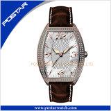 従来の実業家のステンレス鋼の水晶腕時計