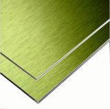 Goldene aufgetragene zusammengesetzte Aluminiumpanels