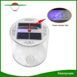 Luz solar inflable solar plegable recargable portable de la linterna que acampa 10 LED con el indicador llano de la batería