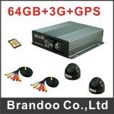 Tarjeta DVR móvil de la alta calidad HD SD con el sistema de seguimiento del vehículo del GPS