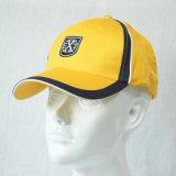 Gorra de béisbol corriente de encargo del algodón de los paneles del sombrero 6 que compite con los casquillos