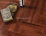 La raspa de arenque multiplica el color de madera dirigido nuez dura de Brown del suelo/del suelo de la madera dura