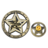 Insignia del botón del oro del esmalte de plástico con imán