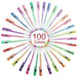 Kleurde de Hete het Verkopen van Amazonië Uitstekende kwaliteit 100 Unieke Reeks van de Pen van het Gel van het Uiteinde van de Balpen van de Inkt van de Pen van het Gel van de Kleur