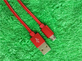Cable micro trenzado de nylon del USB de la alta calidad para el cable de datos del USB iPhone5