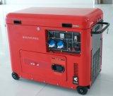 バイソン(中国) BS6500dsec 5kw 5kVA 5000Wの銅線のAir-Cooled 1年によって保証される無声携帯用海洋のディーゼル発電機