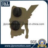 Die Struck Iron Soft Enolel Lapel Pin com embreagem de borracha