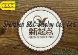 Práctico de costa de papel de encargo impreso insignia, estera absorbente de la taza de papel del redondo de encargo de Printabale con SGS (B&C-G117)