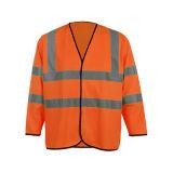 Veste elevada da segurança da visibilidade da luva longa da classe 3 do ISO 20471 do En