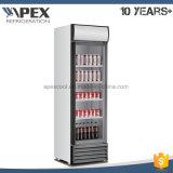 Einzelne Tür-Bildschirmanzeige-Kühlvorrichtung 380L für Pepsi und Kolabaum