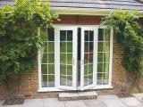 Woodwin 최신 디자인 두 배 강화 유리 알루미늄 프랑스 창