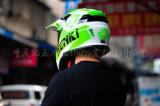 Casco de la motocicleta de la cara llena para el motocrós del material de plásticos reforzado fibra