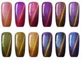 OEM coloré de gel de clou de beauté de clou de polonais en métal de plots réflectorisés