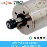 Motore raffreddato ad acqua 1.2kw dell'asse di rotazione del router di CNC per metallo che intaglia 1000Hz 60000rpm