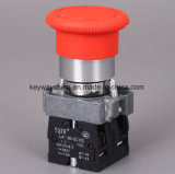Tipo interruptor del metal de la seta de la marca de fábrica de la chavetera de pulsador