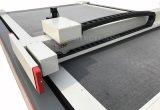 Цена автомата для резки ножа циновки вагона закрытого типа коробки кожи ткани CNC осциллируя