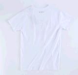 Maglietta rotonda 100% del collo di breve del manicotto estate del cotone
