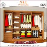 Mobília do quarto Closet de guarda-roupa amarelo de alto brilho