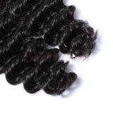 毛の工場品質は保証した100%の人間のバージンのRemyの深い波の人間の毛髪(SL-HE6A004)を