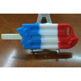 iPhoneのためのThree-Colourアイスキャンデーデザイン柔らかいシリコーンの保護箱