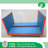 Jaula plegable de acero modificada para requisitos particulares del acoplamiento de alambre para el almacenaje del almacén
