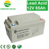 Bateria acidificada ao chumbo selada recarregável de 65ah 12V para o sistema de Telecom/UPS/Solar
