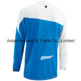 Motocicleta azul do t-shirt da equitação através dos campos da cor que compete Jersey (MAT59)