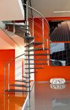 고전적인 스테인리스 단단한 나무 계단