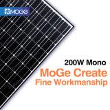 Panneau 200W à énergie solaire mono de conformité de Ce/TUV/ISO avec le coût bon marché utilisé sur le toit