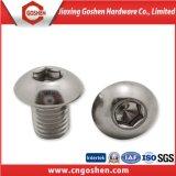 Vis ISO7380 de tête de bouton de plot de l'hexagone Ss304