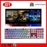 Los accesorios de ordenador ataron con alambre el teclado mecánico ergonómico para el ordenador de Gamer