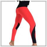 Pantalones rojos de la yoga del entrenamiento de Sportwear de la aptitud de las mujeres del OEM