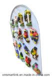 Magnete del frigorifero del pappagallo del ricordo di Polyresin della scultura