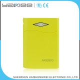 Banco portátil móvel da potência do Li-Polímero 6000mAh com lanterna elétrica brilhante