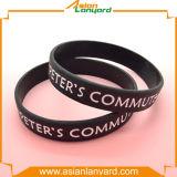 Wristband de borracha do silicone da forma quente da venda