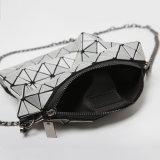 5X8サイズの銀PUの斜方形の女性袋(16A060)