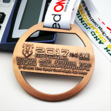 Vecchia medaglia di sport del hokey di ghiaccio di effetto 3D del taglio del metallo su ordinazione