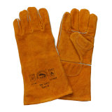 Двойной отрезанная ладонью упорная кожаный перчатка заварки руки