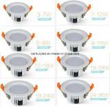 aprobación ligera de RoHS del Ce de 9W 3.5inch SMD LED Downlight abajo