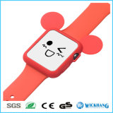 Cartoon Mickey Mouse Ears Soft Silicone Protective Case para Apple Watch 1/2
