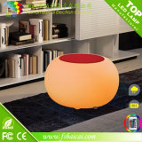 Table basse en verre de meubles de DEL pour le jardin