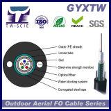 Câble optique extérieur de fibre de la fabrication GYXTW avec le câble Lumière-Blindé d'Unitube