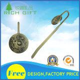 昇進の卸し売りカスタム方法記念品のギフトのための銀によってめっきされる3D金属のブックマーク