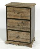 Governo di legno ripreso del salone con la mobilia di legno della stanza da bagno dei 3 portelli