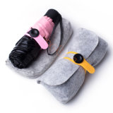 Paraguas de Sun estupendo de 5 dobleces del color rosado mini