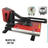 Impresora manual de la transferencia de la prensa del calor de la alta calidad 38*38 para la venta al por mayor